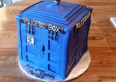 Police Box Cake