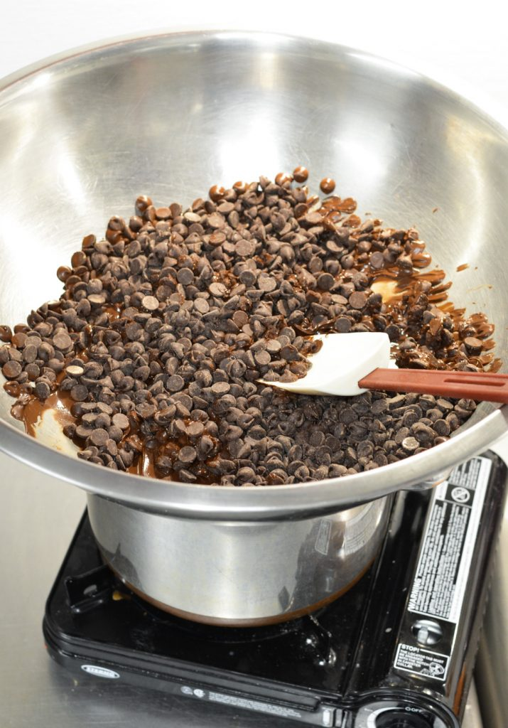 chocolate and double boiler
